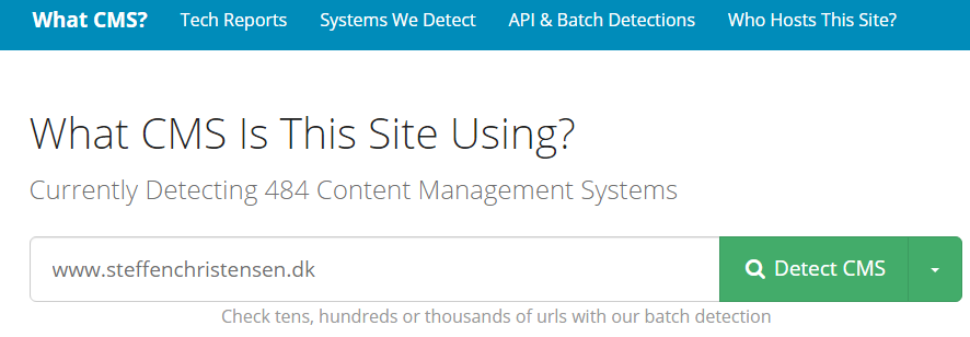 What CMS is this site using?